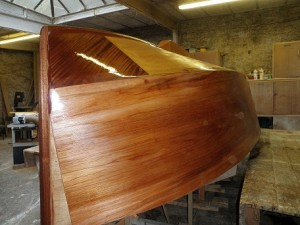 Selway Fisher Heron 15 built by Cornish Wooden Boat Company